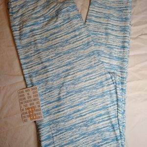 NEW TC LULAROE LEGGINGS ~ PALE BLUE +WHITE PRINT